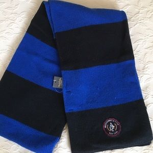 ABERCROMBIE & FITCH Blue & Black Winter Scarf NWT